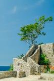 Del av väggen av citadellen, Budva Royaltyfri Foto