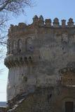 Del av väggen av slotten av Ostrog Arkivbilder