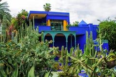 Del av villan Majorelle i Marrakech, Marocko royaltyfri bild