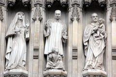 Del av Westminster Abbey Originally som byggs i det 11th århundradet och l Royaltyfria Foton