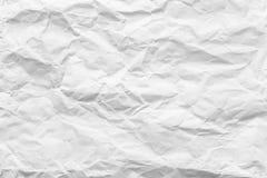 Del blanco textura del papel desastroso Foto de archivo