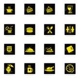 Del café iconos simplemente Foto de archivo libre de regalías