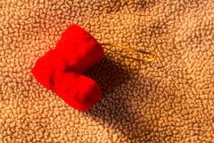 del calcetín de la espuma todavía de la Navidad vida Imagen de archivo libre de regalías