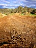 Del camino que conduce pistas Fotografía de archivo