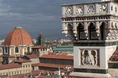 Del campanil en Florencia fotos de archivo