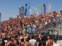 """€ 2016 del campeonato del mundo del tenis de la playa de ITF """"la arena de la playa Imagen de archivo libre de regalías"""