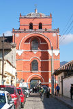 Del Carmen Arch Tower of San Cristobal de las Casas Stock Photo
