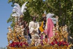 Del Carmen Painful Holy Week de la fraternidad en Sevilla Imagen de archivo
