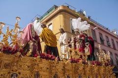 Del Carmen Painful Holy Week de la fraternidad en Sevilla Fotos de archivo libres de regalías