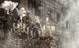 Del Carmen Painful Holy Week de la fraternidad en Sevilla Imagen de archivo libre de regalías