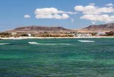 Del Castillo Beach of El Cotillo on Fuerteventura Royalty Free Stock Photos