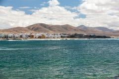 Del Castillo Beach of El Cotillo on Fuerteventura . Royalty Free Stock Photo