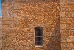 Del castillo, Latarnia Morska morro stara cegła ściana okien Czerep forteca Kuba havarti Obraz Stock
