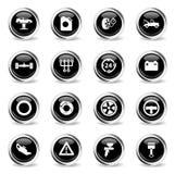 Del coche del servicio iconos simplemente Imagenes de archivo