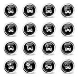 Del coche del servicio iconos simplemente Foto de archivo libre de regalías
