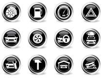 Del coche del servicio iconos simplemente Fotos de archivo