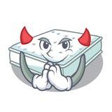 Del colchón de la historieta del diablo hecho para dormir ilustración del vector
