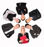 Del collage del círculo hombres de negocios Imagenes de archivo