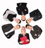 Del collage del cerchio gente di affari Immagini Stock