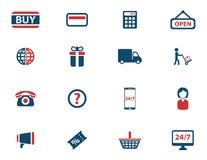 Del comercio electrónico iconos simplemente Imagen de archivo libre de regalías