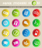 Del comercio electrónico iconos simplemente Foto de archivo