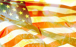 4 del concetto di festa dell'indipendenza di luglio con la stella filante Immagini Stock