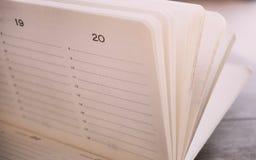 Del cuaderno todavía de la oficina tiempo de la vida Foto de archivo libre de regalías