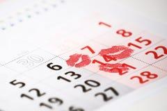 14 del día de tarjetas del día de San Valentín del santo Fotografía de archivo libre de regalías