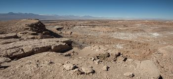 Del de Quebrada Kari Piedra del Coyote - San Pedro de Atacama, Chili photographie stock