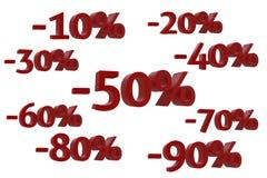 % del descuento 3d-model Imagenes de archivo