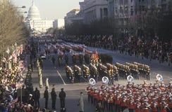 Del desfile avenida inaugural de Pennsylvania abajo Imagen de archivo libre de regalías