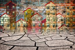 Del desierto a la ciudad - imagen del concepto libre illustration