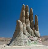 del desierto mano Arkivfoton