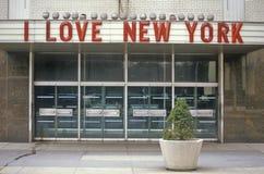 ½ del ¿ di Yorkï di amore del ½ I del ¿ del ï il nuovo firma dentro Columbus Circle, New York, NY Immagini Stock Libere da Diritti