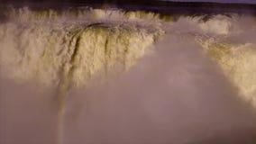 Del Diablo Iguazu Falls Inside di Garganta stock footage