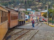 Del Diablo Train Stop Alausi Ecuador de Nariz foto de stock