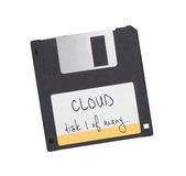 Del disco blando - tecnología a partir del pasado, aislado en blanco Imagen de archivo