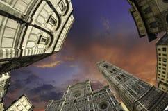 del Duomo fisheye Florence piazza widok fotografia stock