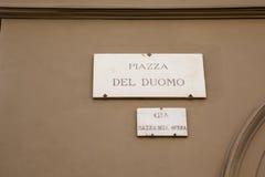 del duomo florence italy piazza Arkivbild
