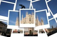 del duomo milan piazza Royaltyfri Foto