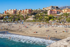 Del Duque beach in Costa Adeje. Tenerife, Canary Islands, Spain Stock Photography