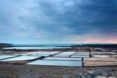 del dusk αλυκές Lanzarote janubio Στοκ φωτογραφίες με δικαίωμα ελεύθερης χρήσης