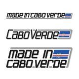 ` Del ejemplo del vector hecho en el ` de Cabo Verde Imágenes de archivo libres de regalías
