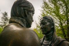 Del ?el car?cter drama de la sonata del invierno ?de la estatua en Nami Island, Corea del Sur fotografía de archivo libre de regalías