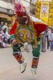 Del enmascarado Carmen Pisac Cuzco Peru de Virgen de los bailarines Fotografía de archivo