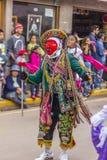 Del enmascarado Carmen Pisac Cuzco Peru de Virgen de los bailarines Fotos de archivo libres de regalías