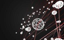 Del espacio fondo oscuro polivinílico poligonal abstracto bajo Imagen de archivo libre de regalías