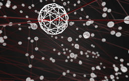 Del espacio fondo oscuro polivinílico poligonal abstracto bajo Imagen de archivo