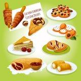 Del este - icono europeo de los postres de la cocina stock de ilustración