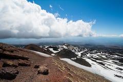 Del Etna de Rifugio 1800 m acima do sealevel em Sicília, Itália Fotografia de Stock